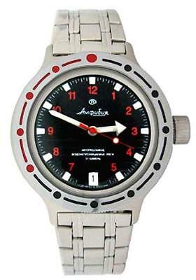 Vostok Amphibian 420280 /2416b Russian Military Automatic Mens Watch Divers 200m