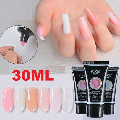 Clear Pink Nail Poly Gel Poly Gel Nail Finger Extension Polygel Quick Building