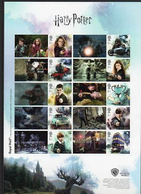 Royal Mail Display Sheet for New Harry Potter 10-Stamp Series