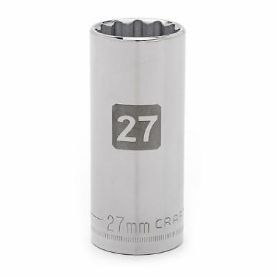 "Craftsman Easy Read Deep Socket 27-MM 12-Points ½"" Drive 9-50775"