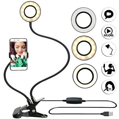 Ring Light LED Photography Mini Selfie Light Photo Camera Video Studio Table USB
