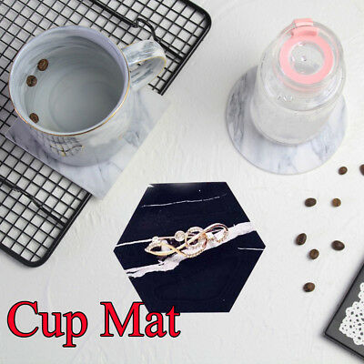 Marble Home & Kitchen Table Decoration Mug Pads Coffee Coaster Cup Mats