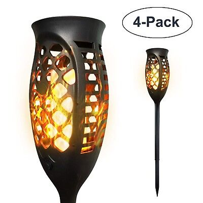 Petrala Solar Lights Outdoor Torch Light 3 Modes Dancing Flames Waterproof Du...