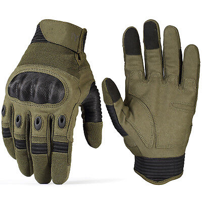 Touchscreen Tactical Cycling Motorcycle Combat Hard Knuckle Full Finger Gloves t