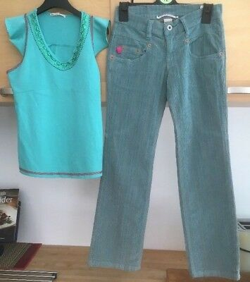 Girls designer Outfit Age 10 Nolita Pocket Trousers and Fornarina Top New