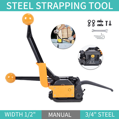 "Manual Steelless steel Strapping Tool Machine A333 For Width 1/2""-3/4"" Straps"