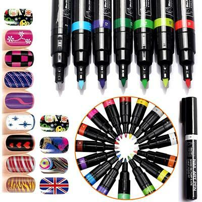 16Colors Nail Art for 3D Nail Art DIY Decoration Set Design Tools Paint Pens hot
