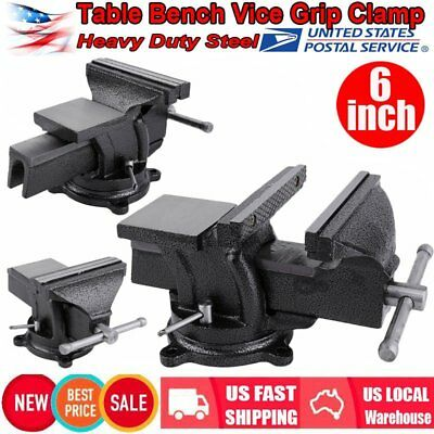 "6"" Heavy Duty Work Bench Vice Engineer Jaw Swivel Base Workshop Vise Clamp US MY"