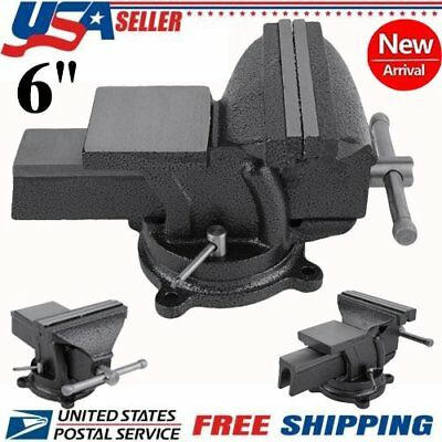 "6"" Mechanic Bench Vise Table Top Clamp Press Locking Swivel Base Heavy Duty MY"