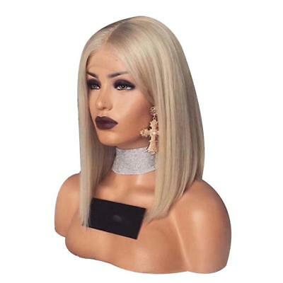 HOT Glueless Synthetic Front Blonde Hair Short Bob Wigs Brazilian Wig Hair NEU