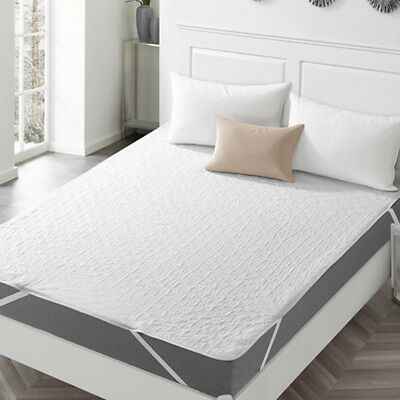 Quilted Fitted Mattress Pad Non-Skid Washable Waterproof Bed Sheet Protector US