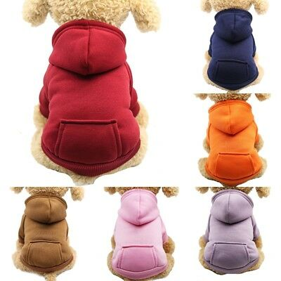 UK Stock Pet Dog Sweater Clothes Sports Hoodie Jumper Coat Puppy Apparel S M L