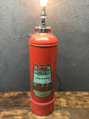 Vintage Minimax Fire Extinguisher Repurposed Into A Great Lamp - PAT Tested
