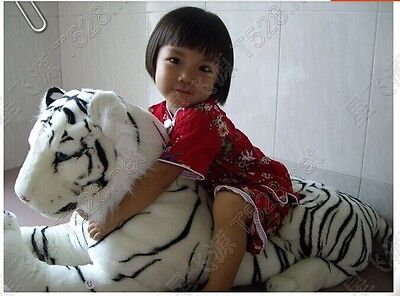 35'' Giant  Simulation Tiger Toys Soft White South China Tigers Plush Gifts 90CM