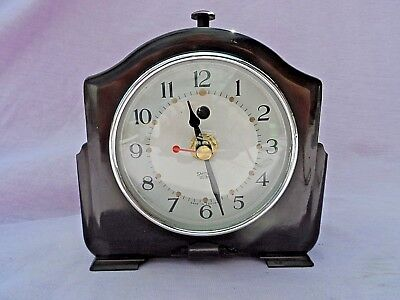 Vintage Smiths Art Deco Bakelite Mantle Clock Nice Condition Gwo (Battery Run)