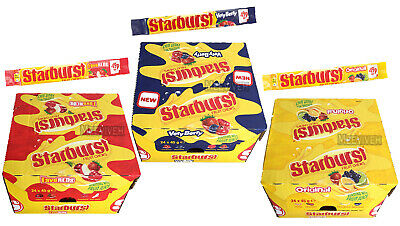 NEW STARBURST FRUIT CHEWS (24 X 45g) VERY BERRY, FAVE REDS, ORIGINAL FRESH STOCK