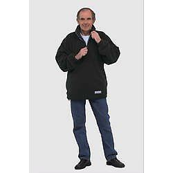 Planam, Fleece-Troyer, 349044, Relax, Gr.L, schwarz/anthrazit