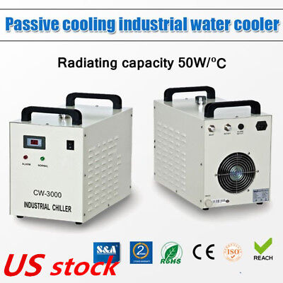 USA S&A CW-3000DG Industrial Water Chiller for 60W / 80W CO2 Glass Laser Tube