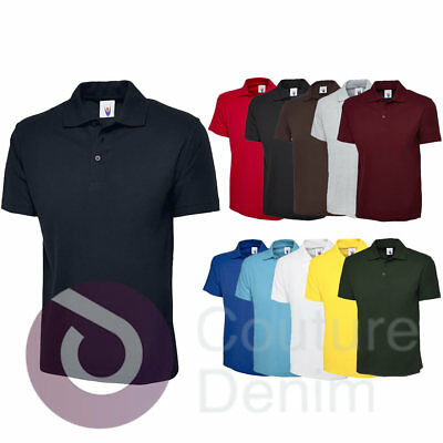 b9b88173 Uneek Childrens Casual School Wear Polos Shirt Kids Collar Unisex Boys  Girls Top