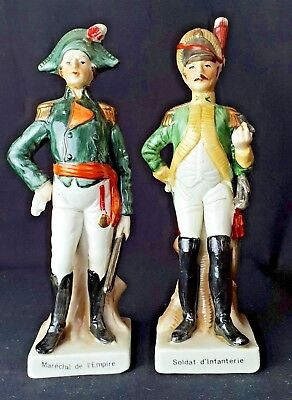 Two Porcelain Soldier Figurine From Napoleaon  Area