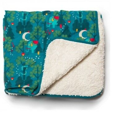 Little Green Radicals Blanket Midnight Jungle  sherpa Organic LGR 75cm x 100cm