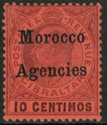 Lot 3914 - Morocco Agencies - 1903/06 10 centimos purple on red MH KEVII stamp