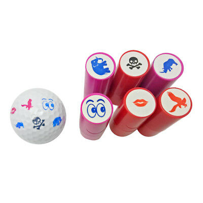2 Pieces Bright Colorfast Golf Ball Stamp Stamper Marker - Various Patterns