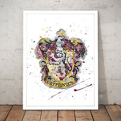 Harry Potter Gyffindor House Symbol Unique Art Poster Print - A3 A2 A1 A0 Framed