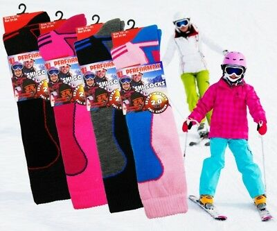 Boys Girls Childrens Kids Thermal 2.0 Tog Insulated Ski Boot Socks By Performax