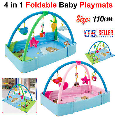 Large Light & Musical 4 in 1 Foldable Baby Playmats Play Mat Fitness Gym Nest