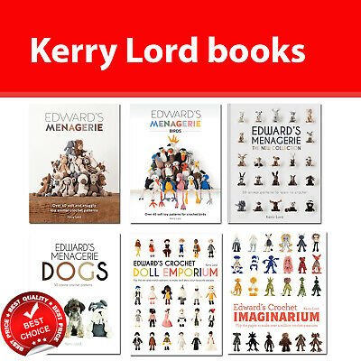 Kerry Lord Edward's Menagerie and crochet Books Collection Set pack NEW