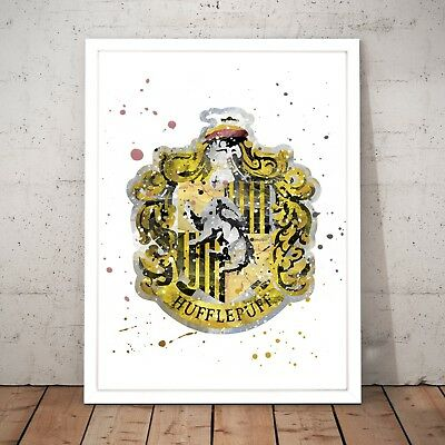 Harry Potter Hufflepuff House Symbol Unique Art Poster Print A3 A2 A1 A0 Framed