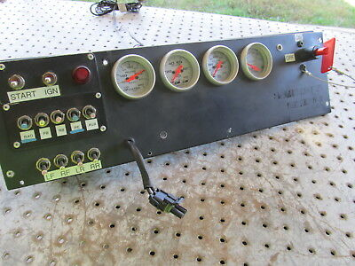 Nascar Aluminum Dash Front Face With Full Toggels 4 Gauges On/off And Harness