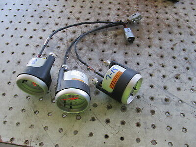 Nascar Auto Meter Gauge Lot X 3 With Harness New 7-18 Water Temp/psi Oil Psi