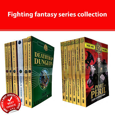 Fighting fantasy series 1 & 2 books set fiction pack Ian livingstone collection