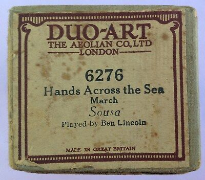 Piano Roll - DUO ART- SOUSA March - HANDS ACROSS THE SEA