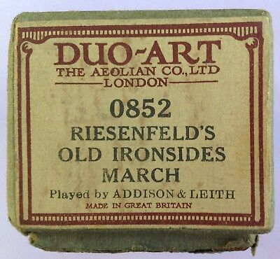 Piano Roll - DUO ART- Riesenfeld - OLD IRONSIDES MARCH