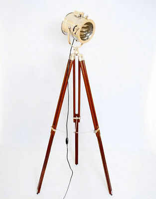 Vintage Spot Search Light Photography Studio Floor Lamp With Wooden