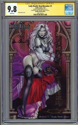 Lady Death Heartbreaker #1 Naughty Chamber Edition CGC 9.8 SS Signed Pulido 2018