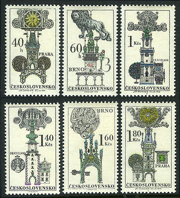 Czechoslovakia 1698-1703, MNH. Gothic Town Halls, Towers, Coat of Arms, 1970