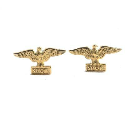 Roman Eagle Cufflinks, handmade in England from Fine English Pewter. (aquila)
