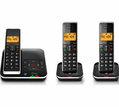 BT Xenon 1500 Cordless Phone with Answering Machine: 3 Handsets