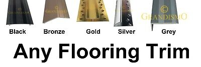 Carpet Door Bar Trims - Metal Threshold Bars - Any Colour / Length - 90cm & 2.7m
