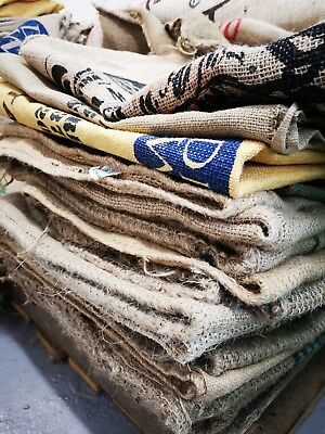 Free delivery Hessian Various Design Coffee Sacks x10 Excellent Condition