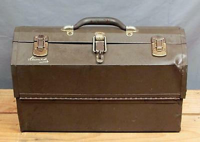 Vintage Kennedy Large Fishing Metal Tackle Box & Contents Full of Lures,Spoons +