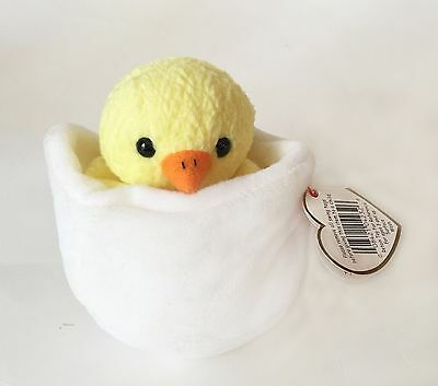 f80fb2331db TY Beanie Baby Rare Eggbert Chick in Egg with Gasport Hang Tag Error
