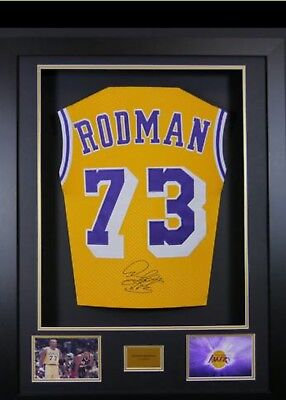 aead5ee9b Dennis Rodman  73 L.A. Lakers Signed Jersey 3D Framed New LOOK!