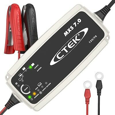 CTEK MXS 7.0 Fully Automatic Battery Charger, Maintains And Reconditions Car, 7
