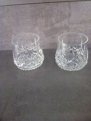 Stunning pair Waterford Crystal Whiskey Tumblers in the Lismore pattern