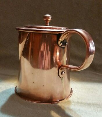 antique copper pitcher stein dovetailed